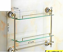 European Style Handtuchhalter/Vergoldete Kristall Keramik Gold Handtuchhalter/Antike Bad-Accessoires/Badezimmerzahnstangen-K