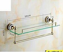 European Style Handtuchhalter/Vergoldete Kristall Keramik Gold Handtuchhalter/Antike Bad-Accessoires/Badezimmerzahnstangen-J
