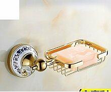 European Style Handtuchhalter/Vergoldete Kristall Keramik Gold Handtuchhalter/Antike Bad-Accessoires/Badezimmerzahnstangen-P
