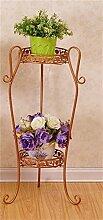 European Style Iron Flower Racks Innen-und Außenbereich Wohnzimmer Balkon 2 Ebenen Blume Regal Dekoration Montage Flower Racks ( farbe : #4 , größe : S )
