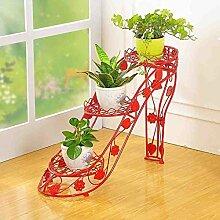 European Style Iron High Heels Art Blumen Racks