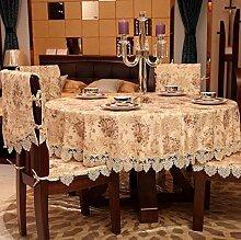 european style jacquard lace macrame tischtuch round rechteckigen tisch deckt möbel cover tuch-A 110x110cm(43x43inch)