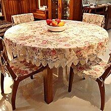 european style jacquard lace macrame tischtuch round rechteckigen tisch deckt möbel cover tuch-B 85x85cm(33x33inch)