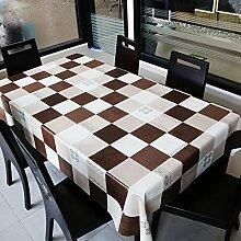 European-Style Karo Tischdecke/TischPVCTischdecke decke/Qualität Öl Untersetzer/ Wasserdichte Einwegtuch/ Garten Tischdecke-A 137x220cm(54x87inch)