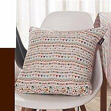 European-Style-Kissen/ Baumwolle und Leinen Kissen/Sofa-Bett Umarmung Kissenbezug-B 30x45cm(12x18inch)VersionB