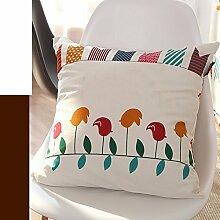 European-Style-Kissen/ Baumwolle und Leinen Kissen/Sofa-Bett Umarmung Kissenbezug-A 30x45cm(12x18inch)VersionA