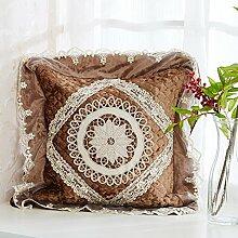 European-Style-Kissen/Gold Samtkissen/Sofa-Bett Umarmung Kissenbezug-B 45x45cm(18x18inch)VersionA