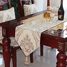 European-style Luxus Tischläufer Einfache Und Moderne Tischdecke Tee Tischläufer Tischläufer-A 35x240cm(14x94inch)