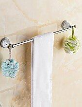 European Style Single Towel Bar Edelstahl Handtuchhalter Bad Handtuch Rack (sechs Größen zur Auswahl) ( Farbe : 2 , größe : 600*95mm )