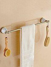 European Style Single Towel Bar Edelstahl Handtuchhalter Bad Handtuch Rack (sechs Größen zur Auswahl) ( Farbe : 1 , größe : 500*95mm )
