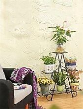 European - Style Six - Story Eisen Blumentopf Regal Pflanze Stand Wohnzimmer Balkon Töpfe Regal Blumenregal ( farbe : Messing , größe : B )