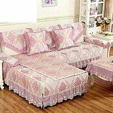 European Style Sofa Pad/Sommer Rutschfeste Sofa-matte/Einfache Moderne Sofa-matte-A 110x160cm(43x63inch)