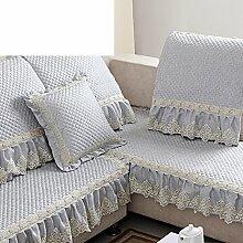 European-Style Sofakissen/Stoff rutschfeste Luxus Sofa Handtuch-B 90x90cm(35x35inch)