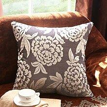 European-Style Sofakissen/Upscale Bett zu Hause/ Kissen/ im Büro/Lendenkissen-C 50x50cm(20x20inch)VersionB