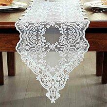 European-style Spitze Stoff Tischläufer Tisch Couchtisch Flagge TV-Schrank weiß Tischläufer amerikanischen New pastoralen Tischdecken ( größe : 30*250cm )