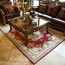 European-Style Teppich/ Chenille Jacquard Teppich/ Haushalt Tür Decke-A 160x230cm(63x91inch)