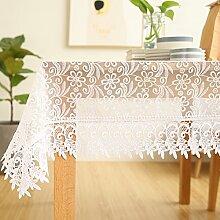 European-Style-Tischdecke/ weißes Tuch/ Handtuch-Lace-Cover/Spitze Tabelle Tuch Tischdecke Garten-B 85x85cm(33x33inch)