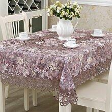 European-Style Tischdecken/ Garten Tischdecke/Tischdecken/Tischdecke decke/Rundtischdecken/Mode-Mat/TV-Tuch-A Durchmesser150cm(59inch)