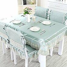 European-style Tischdecken,Stoff Rechteck Tischdecke,Polstermöbel Kit,Moderne Minimalistische Tischdecke-D 110x160cm(43x63inch)
