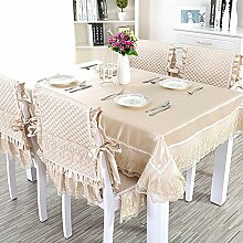 European-style Tischdecken,Stoff Rechteck Tischdecke,Polstermöbel Kit,Moderne Minimalistische Tischdecke-E 150x150cm(59x59inch)