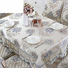 European-style Tischdecken,Stoff Rechteck Tischdecke,Polstermöbel Kit,Moderne Minimalistische Tischdecke-P Durchmesser180cm(71inch)