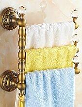 European Style Towel Rack Volles Kupfer Handtuch Rack Dick Antique Rotierende Handtuch Bar ( Farbe : 2 , größe : 30*27cm )
