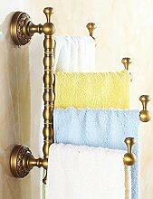 European Style Towel Rack Volles Kupfer Handtuch Rack Dick Antique Rotierende Handtuch Bar ( Farbe : 3 , größe : 30*33cm )
