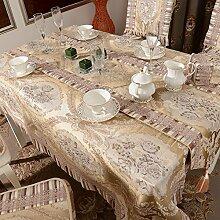 European-style Tuch Tischläufer,Luxus Tuch Mat,Polster Sessel Couchtisch Stoff Tischdecke-B 150x220cm(59x87inch)
