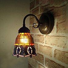 European-style Wandlampe Nachttischlampe Spiegel Frontlampe Beleuchtung minimalistischen Schlafzimmer Mittelmeer nach Hause Tiffany-Lampen
