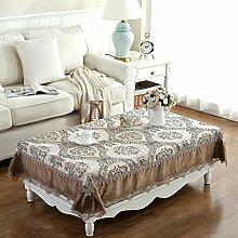 European tea table cover handtuch Wohnzimmer tisch handtuch Tischtuch Rechteck tischdecke-C 130x180cm(51x71inch)
