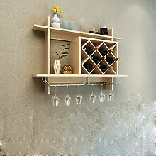 European Wine Rack Hanging Lattice Rack Rotwein Rahmen Kreative Wand Regale Regal ( größe : S )