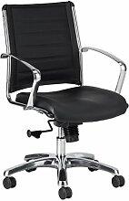 Eurotech Seating Europa Leder-Stuhl, mittelhoch,