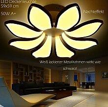 Euroton LED Deckenleuchte 8016-4+4WJ mit Fernbedienung Lichtfarbe und Helligkeit einstellbar Acryl-Schirm weiß lackierter Metallrahmen individuelles Design Energieeffizienzklasse: A+ Modern Wohnzimmerleuchte Kronleuchte Pendelleuchte DeckenlampeDeckenstrahler led Deckenleuchte Hängeleuchte Hängelampe LED lampe LED Leuchte Beleuchtung Einbauleuchte Wandleuchte Spot Lüster