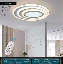 Euroton LED Deckenleuchte XW092 WJ mit Fernbedienung Lichtfarbe/Helligkeit einstellbar Acryl-Schirm weiß lackierter Metallrahmen individuelles Design Energieeffizienzklasse: A+ Modern Wohnzimmerleuchte Kronleuchte Pendelleuchte DeckenlampeDeckenstrahler led Deckenleuchte Hängeleuchte Hängelampe LED lampe LED Leuchte Beleuchtung Einbauleuchte Wandleuchte Spot Lüster