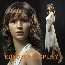 EurotonDisplay Schaufensterpuppe mit 2 Perücken gratis SF-4 beweglich