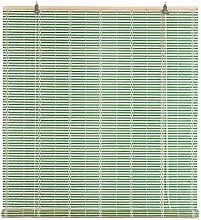EV Rollladen Boston in Bamboo C/Seilzug 120x 250cm grün Tür Fenster Privacy Lich