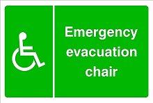 Evakuierung HSE Schild Gesundheit & Sicherheit