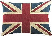 """EVANS LICHFIELD UNION JACK FLAGGE HERGESTELLT IN GROßBRITANNIEN CHENILLE KISSENHÜLLE 17""""X13""""- 43X33CM"""