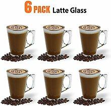 Ever Rich ® 240 ml Latte Glas Tee Tasse Kaffee