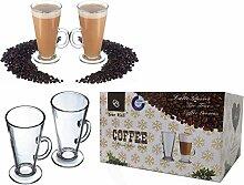 Ever Rich ® 300 ML Latte Glas Tee Tasse Kaffee
