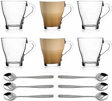 Ever Rich® Latte Glas Tee Kaffee Tasse Tasse