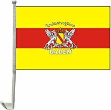 Everflag Auto-Fahne: Baden mit Wappen