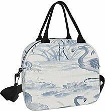 Everglades Lunch-Tasche, blaue Flamingo-Tapete,