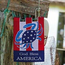 Evergreen God Bless America Garten Flagge Größe: