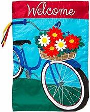 Evergreen Summertime Fahrrad Garten Flagge
