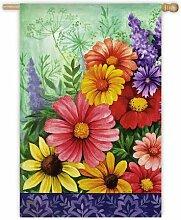 Evergreen Wildflowers Flagge (Garten Größe)