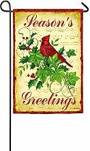 Evergreen Yuletide Freude Cardinal Wildleder