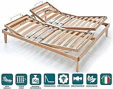 Evergreenweb Doppelbett Lattenrost aus Holz mit 2