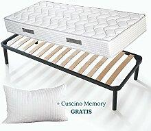 EvergreenWeb - Set Bett Lattenrost Holz Buche und