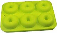 Everley Hutt Silikon-Donut-Form, 6 Mulden, DIY